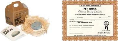 Pet Rock certificate